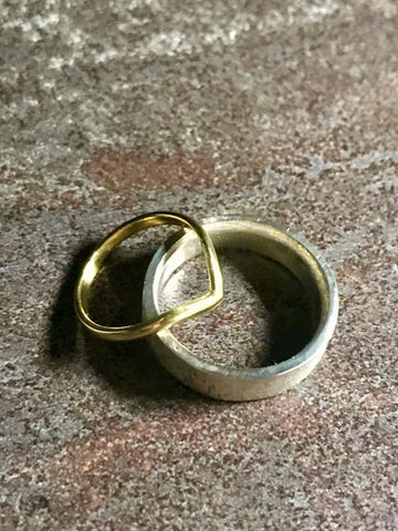 Gold wedding rings made in North Yorkshire wedding ring workshop