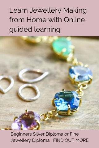 Learn to make jewellery from home wherever you are with online guided learning Silver Jewellery Diploma or Fine Jewellery Diploma