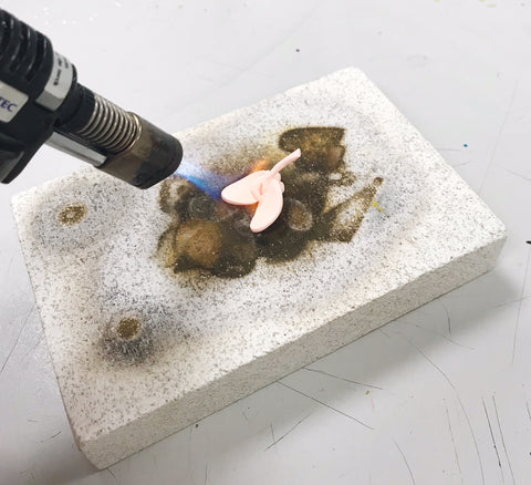 Firing silver clay with a torch