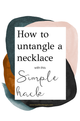 How to untangle a necklace with this simple hack