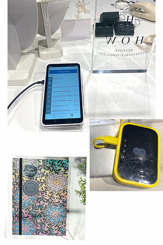Card reader and notebook for pop up shop in John Lewis
