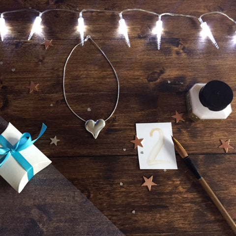 Advent Calendar Day 2 Heart necklace silver
