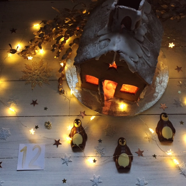 Advent Day 12 Gingerbread house and Betty's chocolate penguins