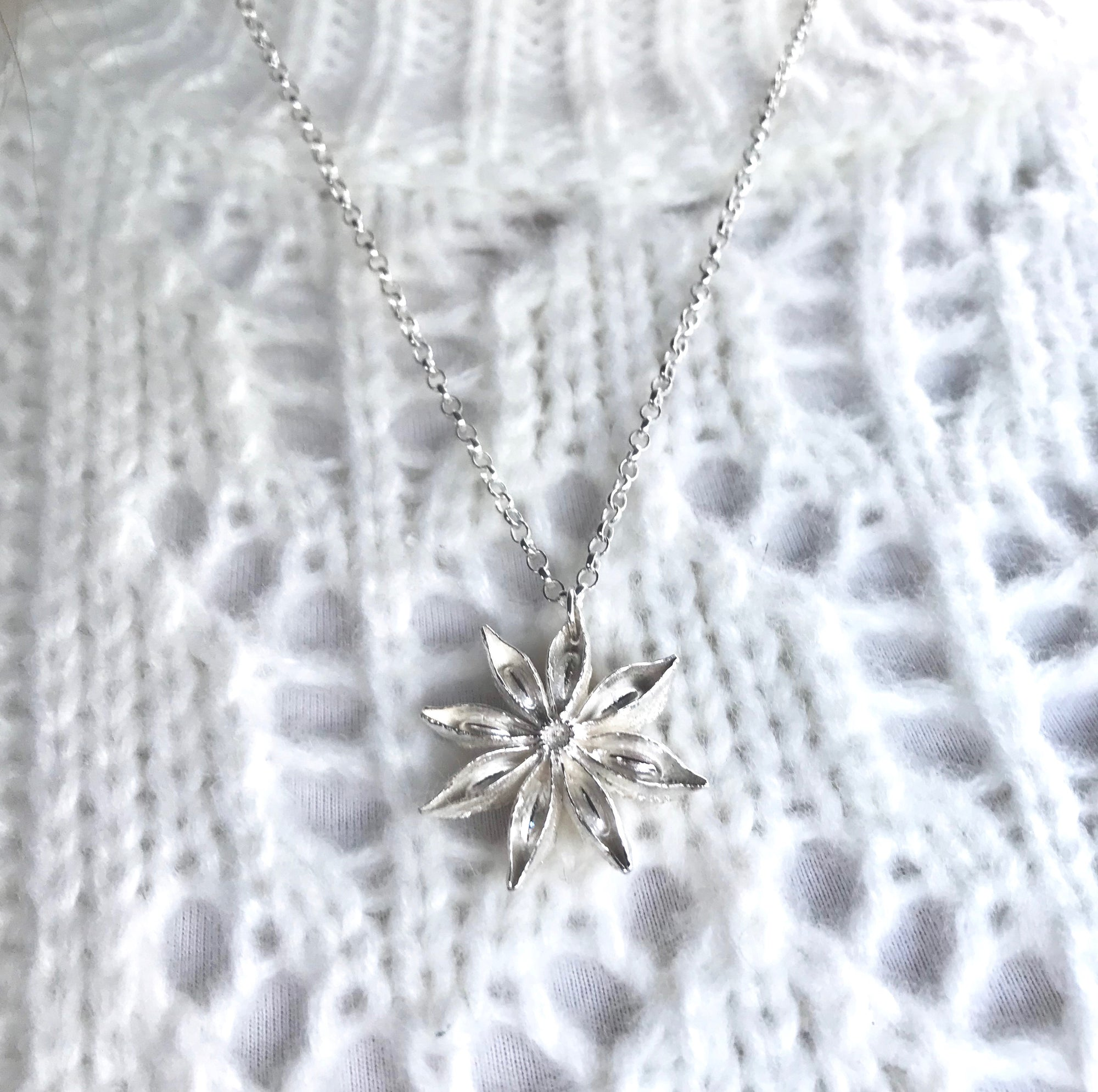 Sterling Silver Oriental Star Necklace from the Limited Edition Star Collection