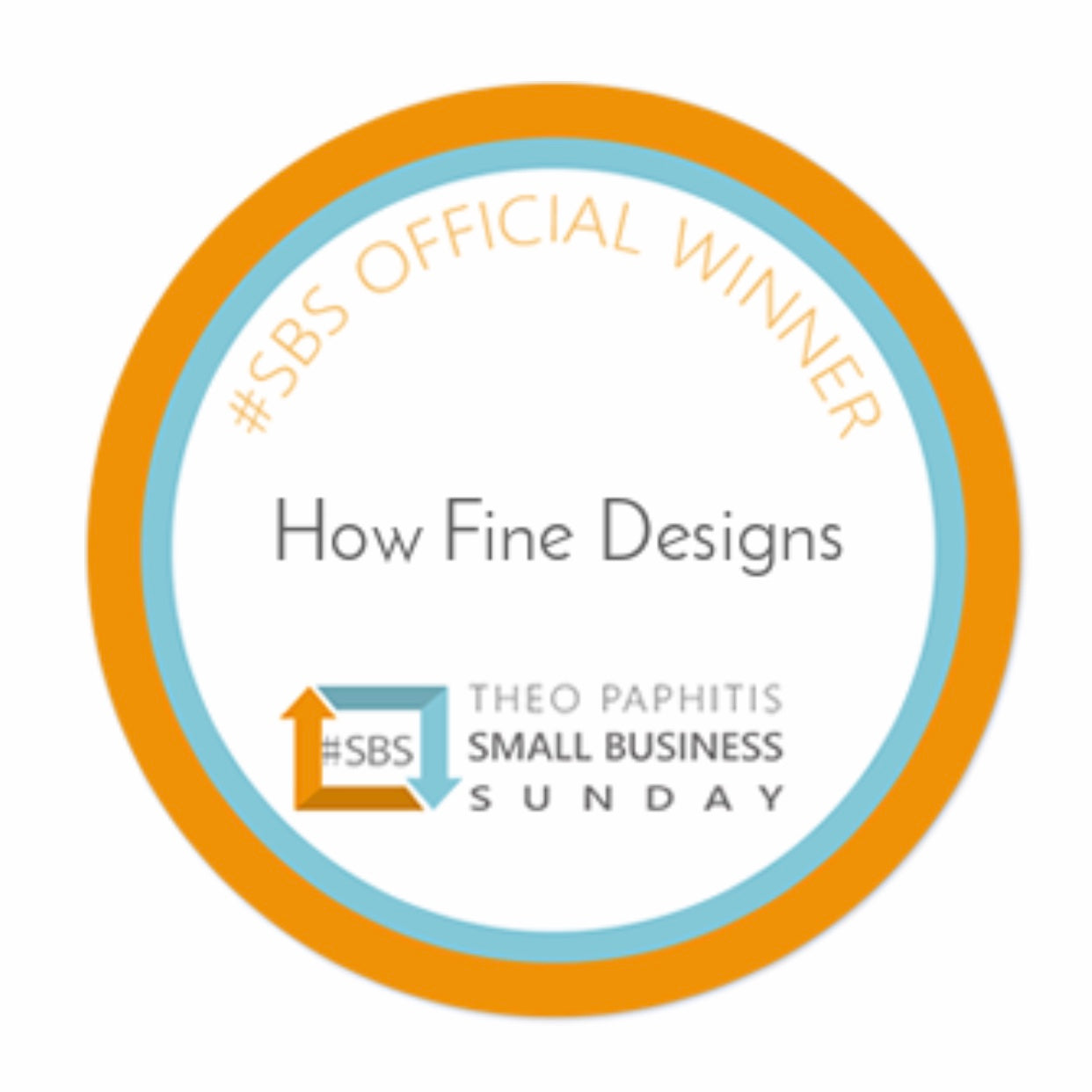 Winner of  #SBS Theo Paphitis Small Business Sunday