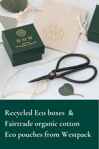 Recycled Eco boxes and Fairtrade organic cotton eco pouches from Westpack