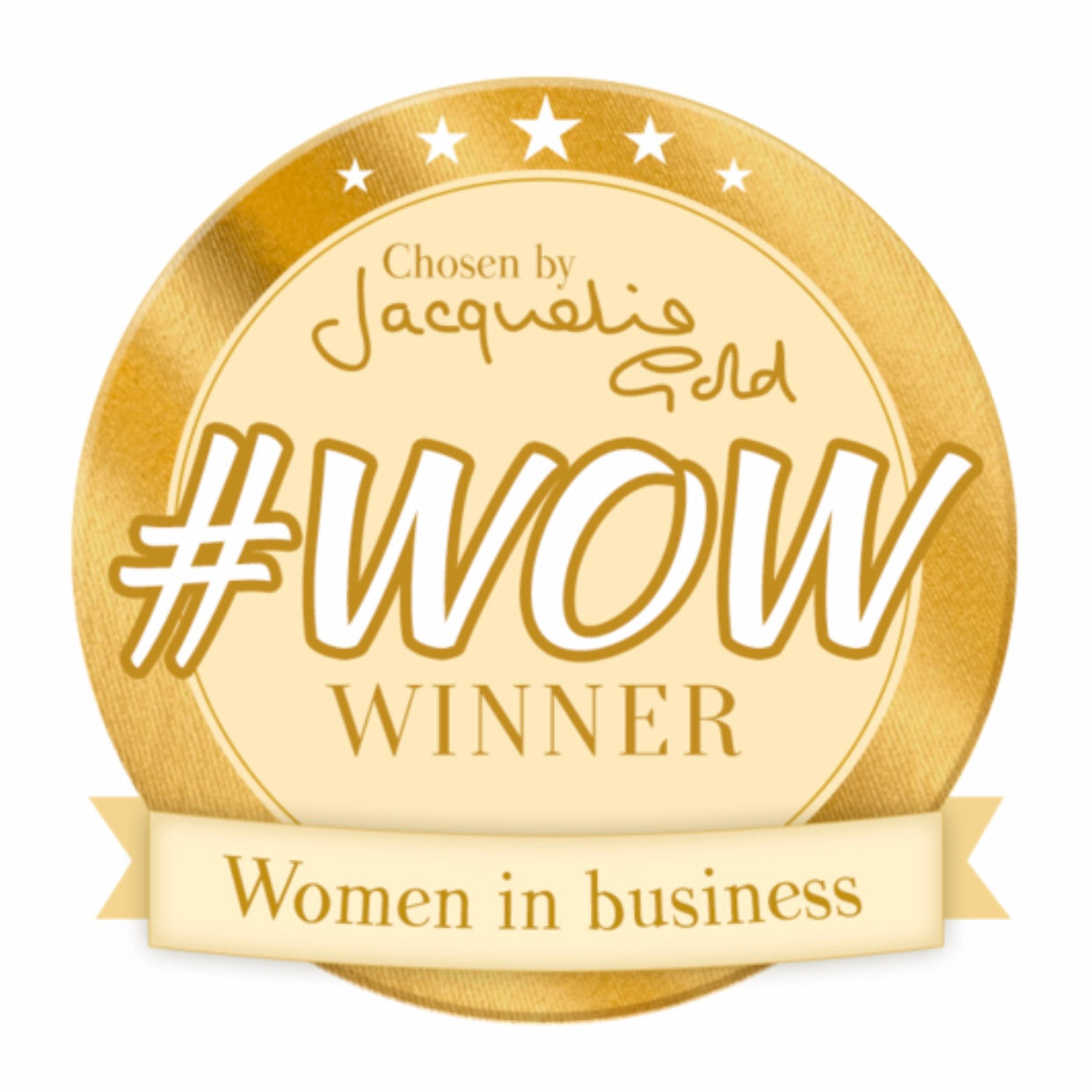 Winner of #WOW Women in Business by Jacqueline Gold