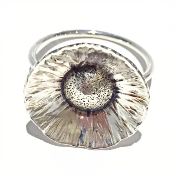 Flower Power Ring Contemporary Silver