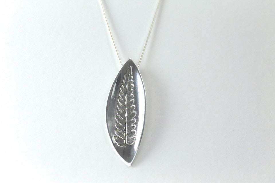 Ferny Frond Silver Necklace