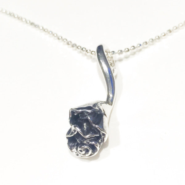 Forever Rose silver necklace