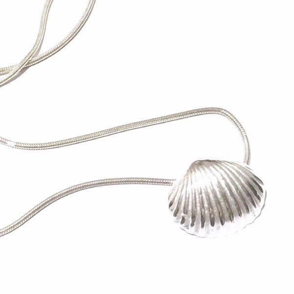 Seaside Daydreams Silver Sea Shell Necklace