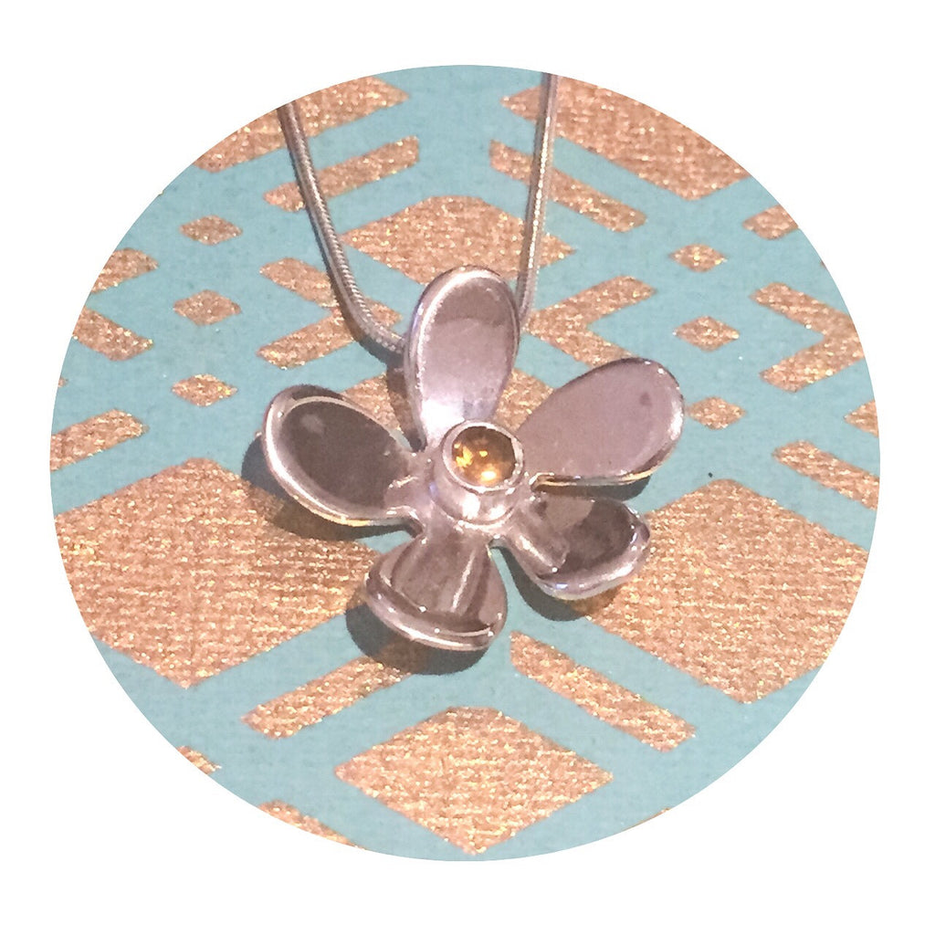 Grace Flower Necklace Silver