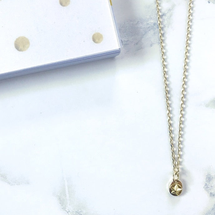 Bespoke Fairtrade gold star necklace