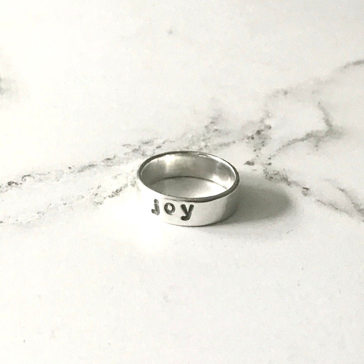 Word of the Year silver ring Joy