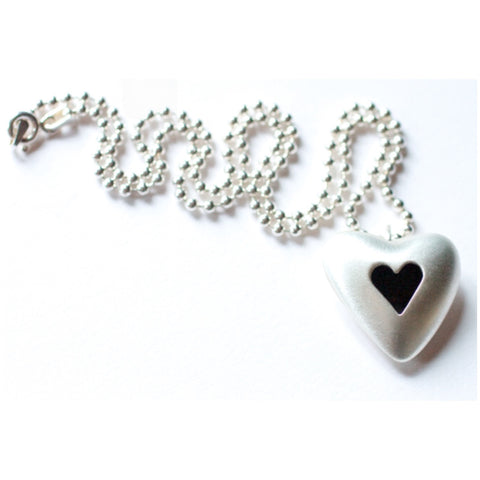 Love is Everything Silver Heart Necklace