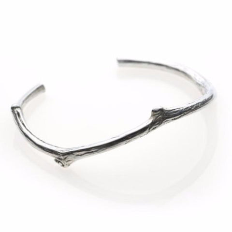 This twig silver bracelet bangle nature
