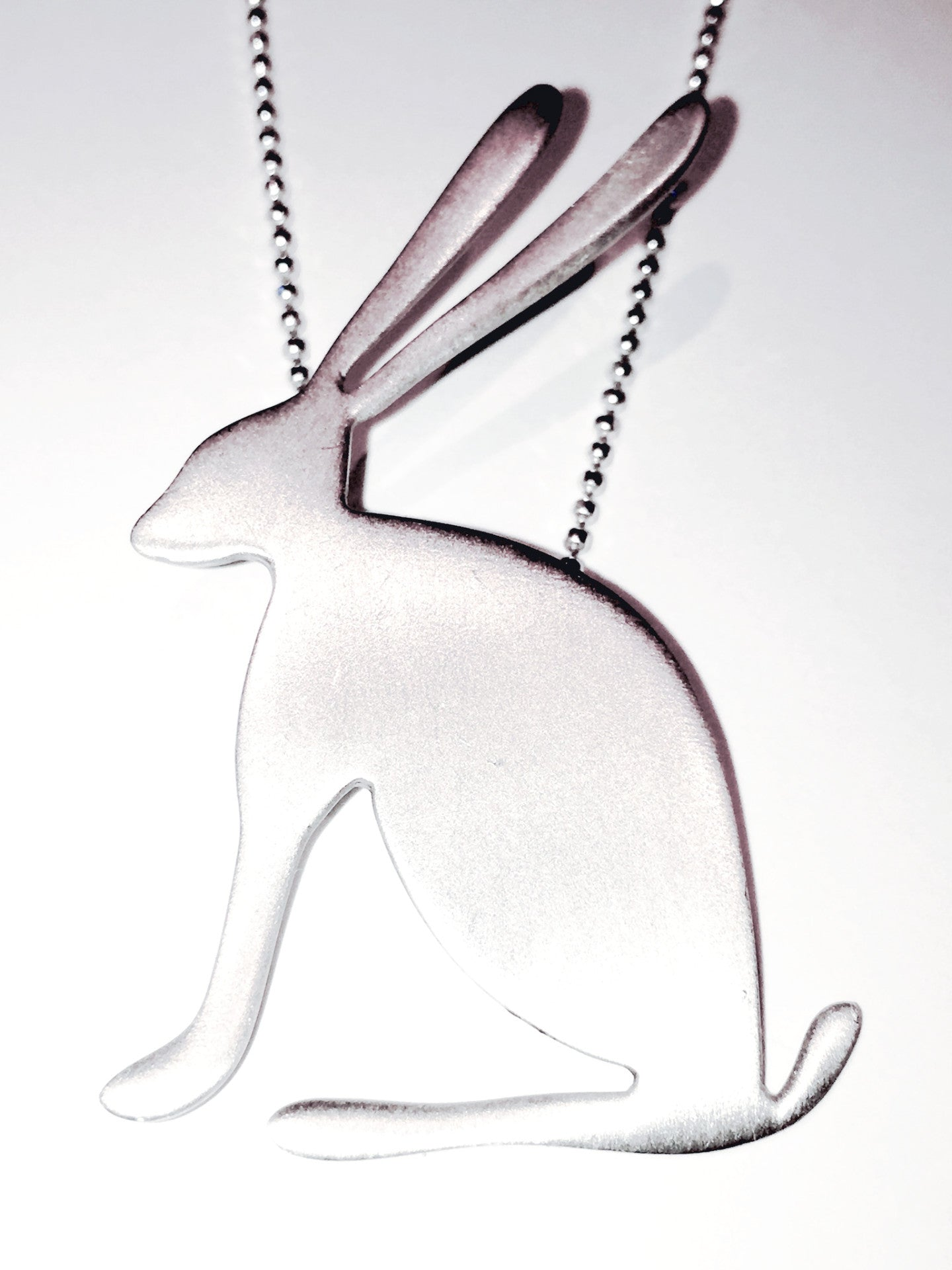 Silver 'Just Sitting There Hare' necklace