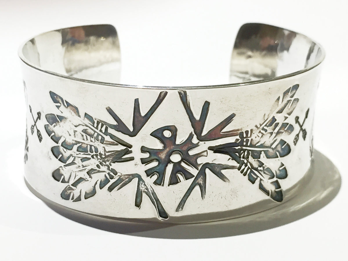 Flying High Bangle Silver cuff bracelet