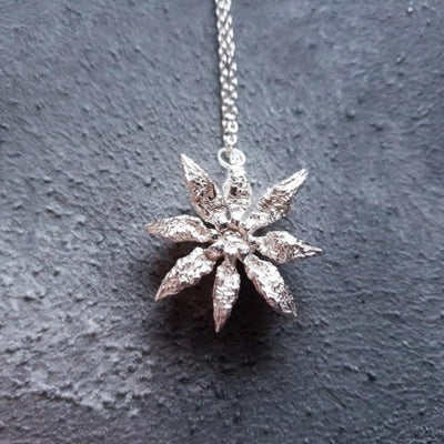 Limited Edition Silver night star necklace back