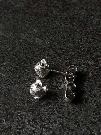 Silver Clove Earrings - Small studs
