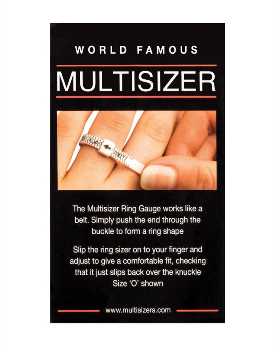 Multisizer ring guage to use measure your ring finger and use at home