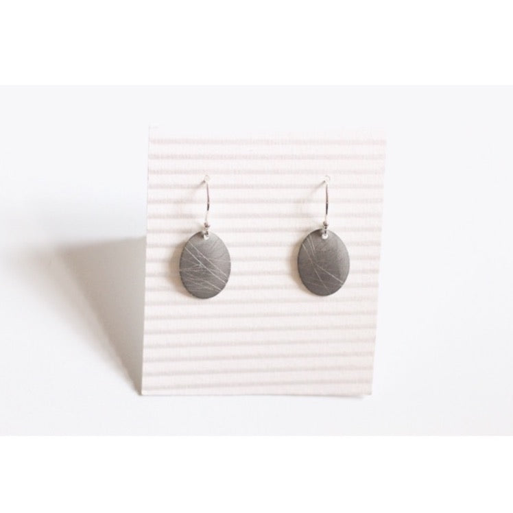 Barely There Oval Aluminium Earrings