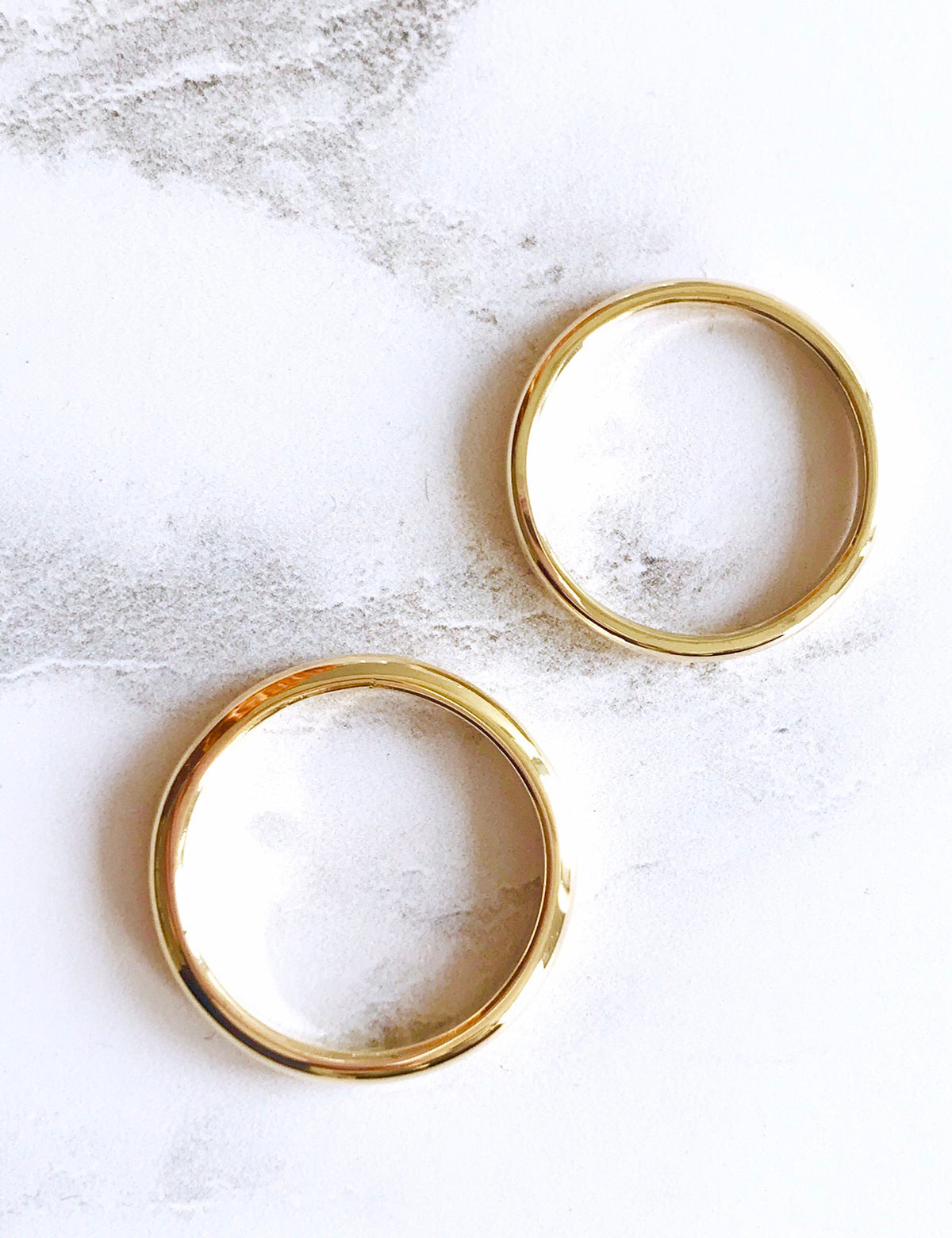 Gold Wedding rings Two rings 18ct yellow, 18 ct rose gold or 18 ct white gold