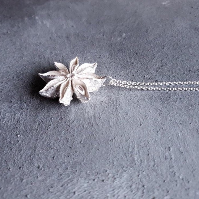 Limited Edition Silver Oriental Star necklace