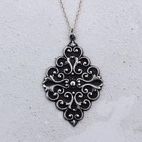 Silver Baroque necklace