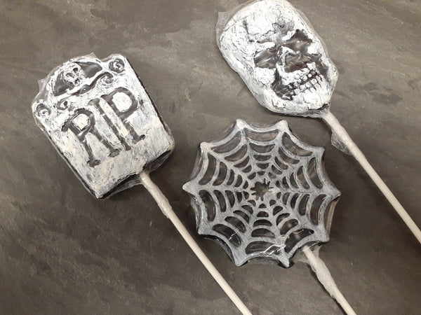 Black Cherry Halloween Lollipops