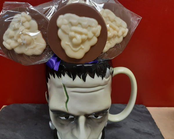 Milk Chocolate Frankenstein Lollipop