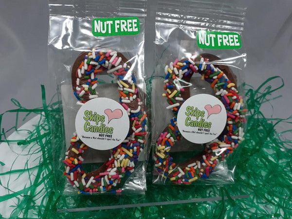 Nut Free Milk Chocolate covered pretzels
