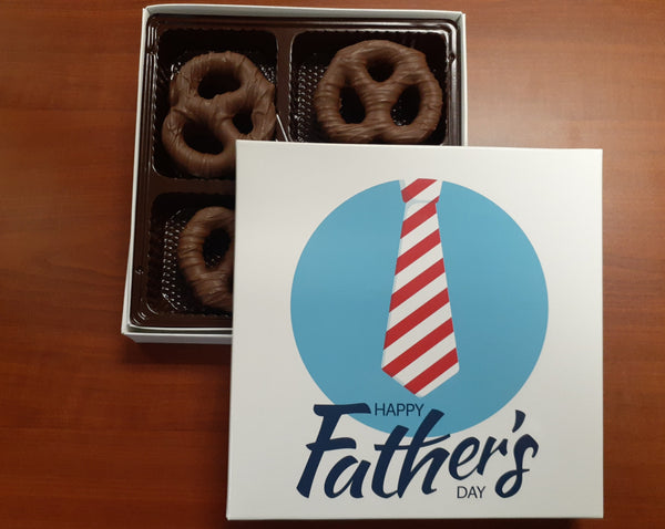 Happy Father's Day Chocolate Covered Pretzels