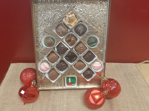 Assorted Chocolate Christmas tree gift box