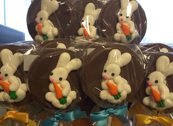 Icing Bunny Milk Chocolate Lollipop