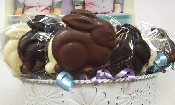 Sitting Bunny Chocolate Lollipop