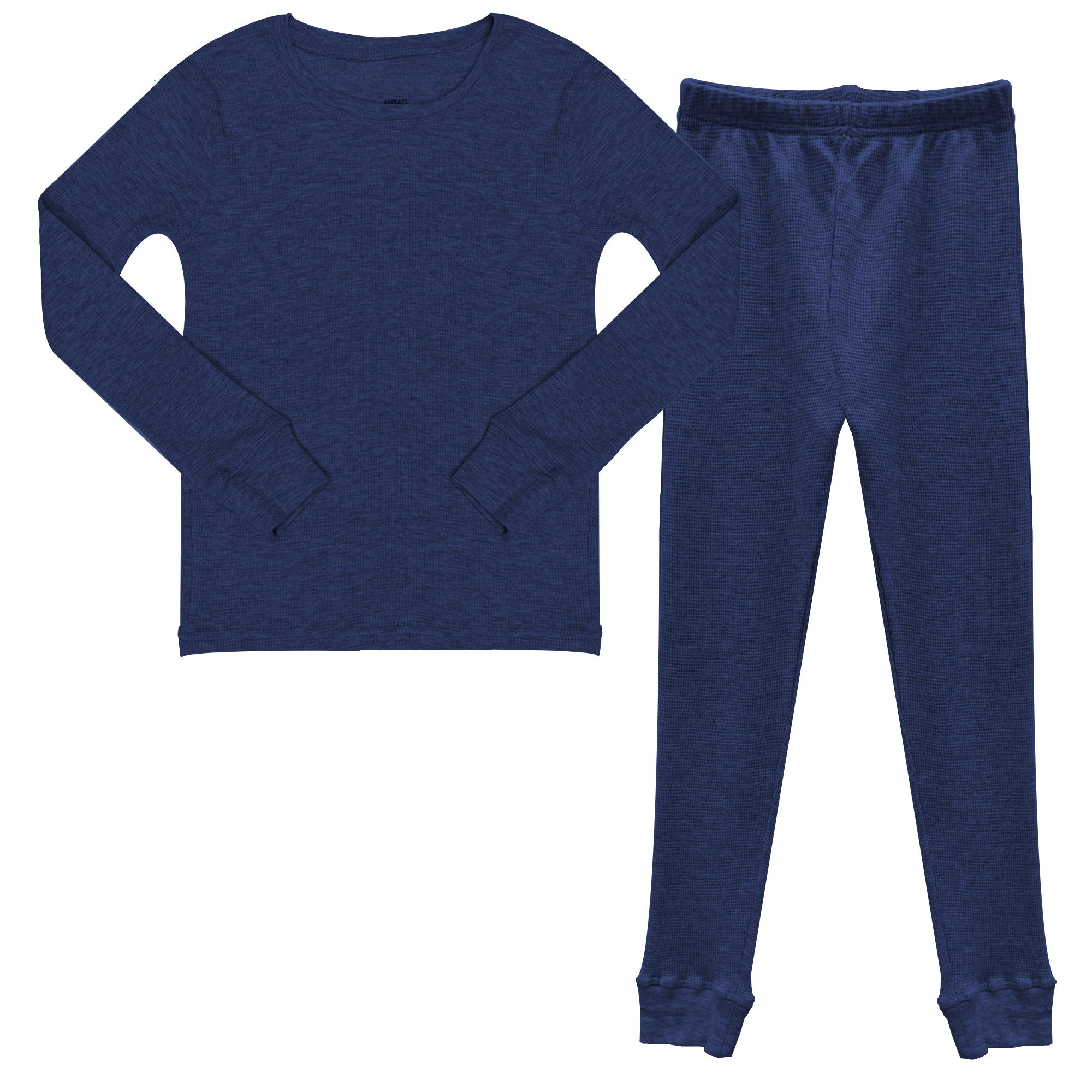boys thermal pajama long johns, boys waffle thermal set, boys warm pajama set, boys warm base layer for skiing, boys long johns