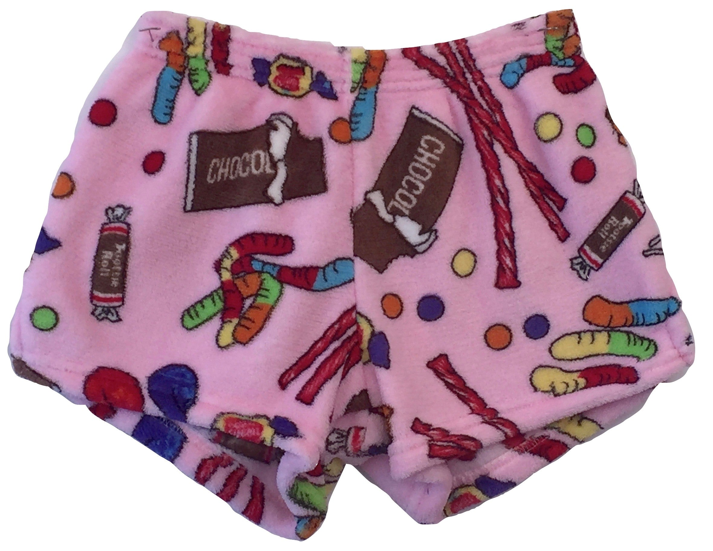Made with Love and Kisses Girl's Fuzzy Plush Pajama / Loungewear Shorts