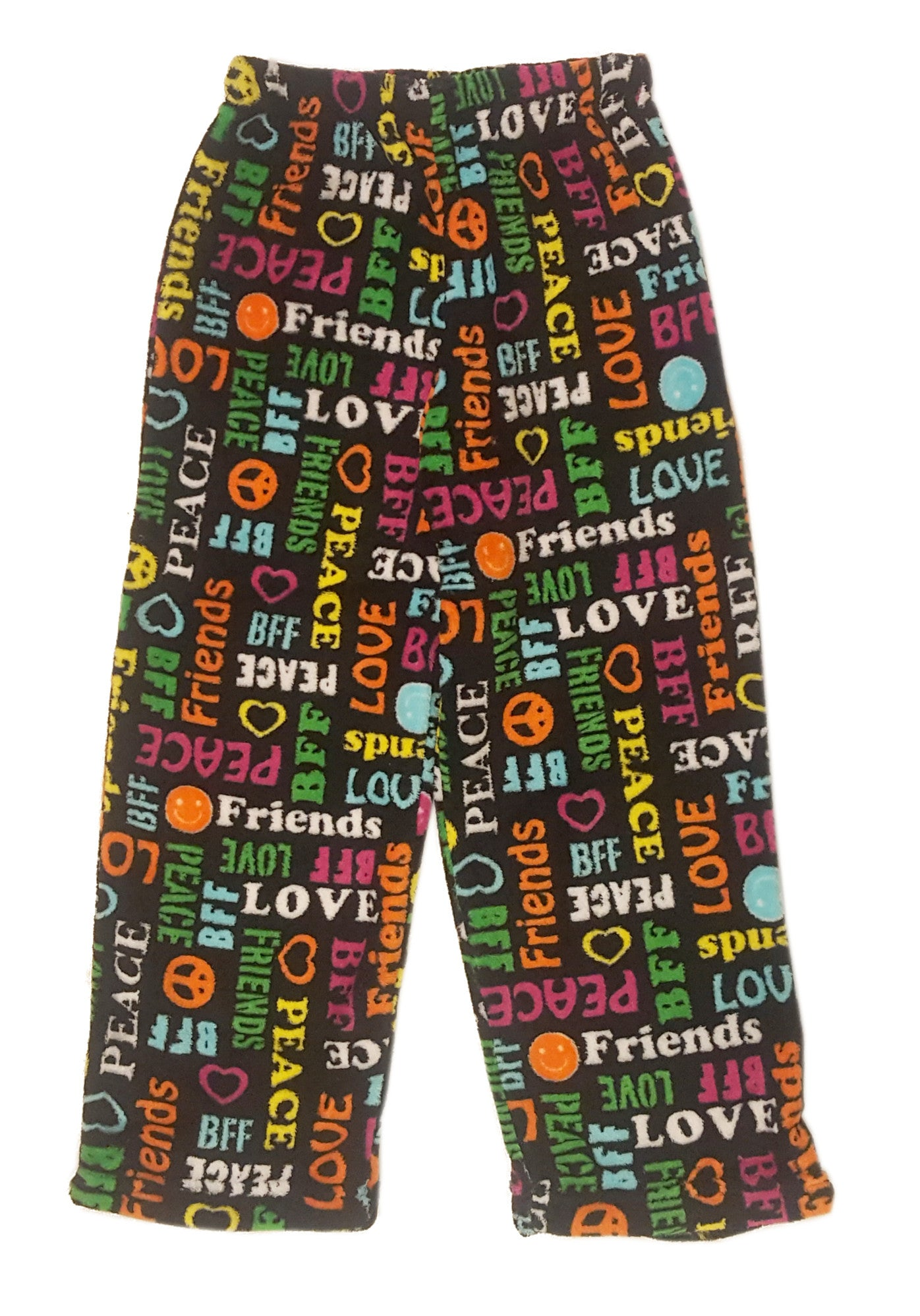 kids fuzzy pants, girls fuzzy pajama pants, fleece pajama pants, girls fuzzy camp pajamas, girls fuzzy friendship pjs