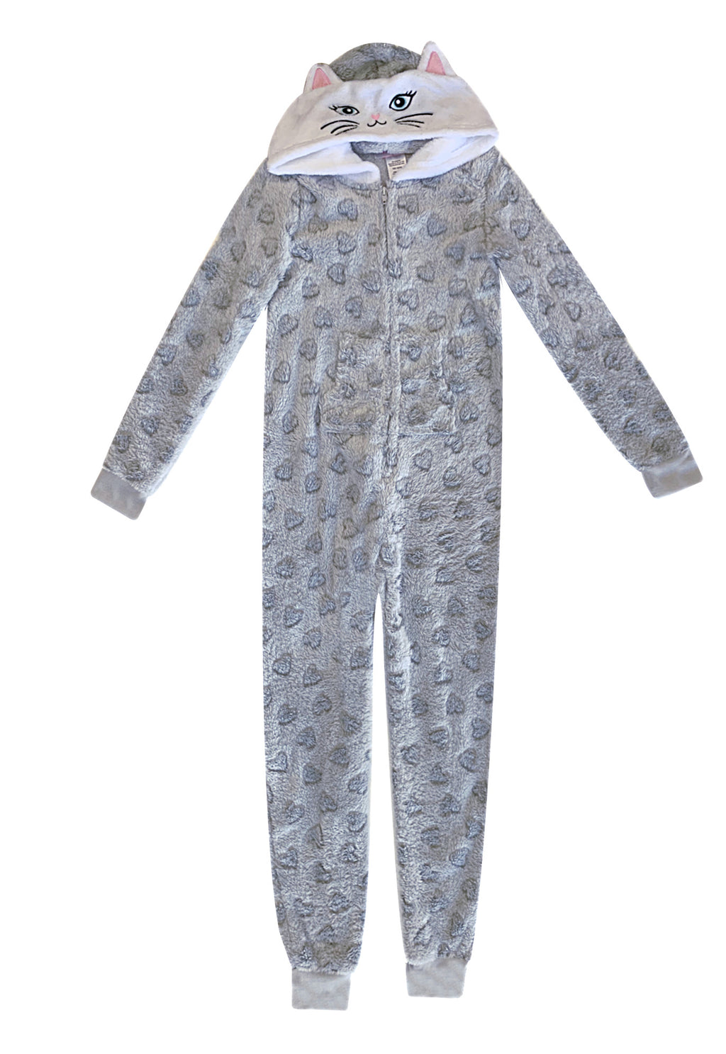 Popular Girl's Fuzzy Fleece Plush Blanket Sleeper Jumpsuit with Hood