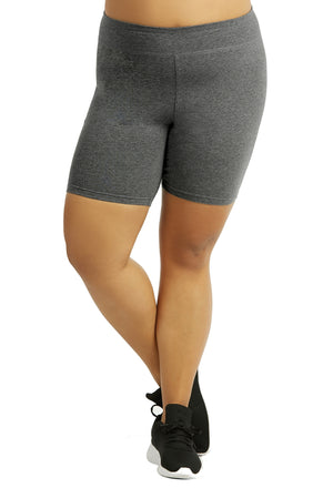 Womens Bike Shorts,Womens plus size shorts,Womens plus size activewear,Womens Charcoal Bike Shorts,Womens plus size workout clothes