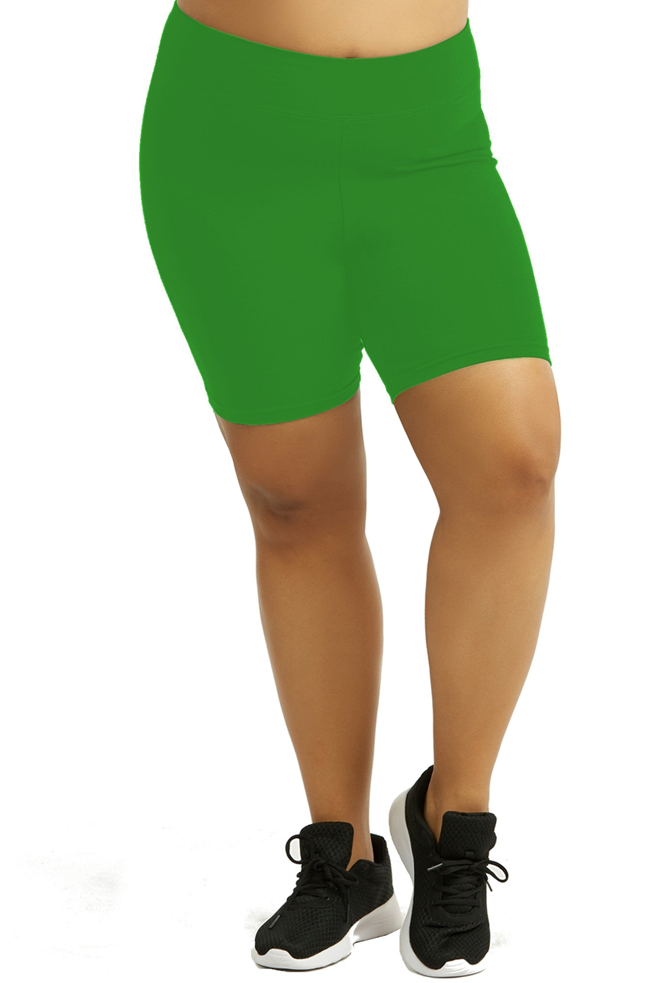Womens Bike Shorts,Womens plus size shorts,Womens plus size activewear,Womens Kelly Green Bike Shorts,Womens plus size workout clothes