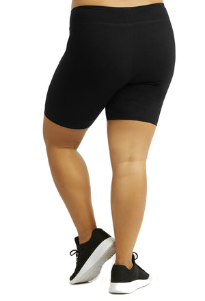 Women's Plus Size Cotton Bike Shorts