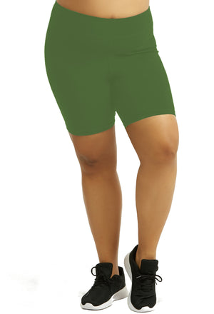 Womens Bike Shorts,Womens plus size shorts,Womens plus size activewear,Womens Olive Bike Shorts,Womens plus size workout clothes