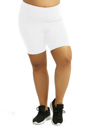 Womens Bike Shorts,Womens plus size shorts,Womens plus size activewear,Womens White Bike Shorts,Womens plus size workout clothes