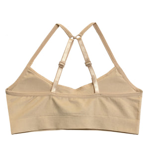 Popular Girl's Seamless Cami Bra With Removable Padding  - Value Pack