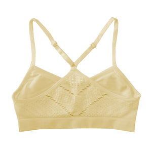 Popular Girl's Seamless Lattice Racerback Bralette - 2 pack