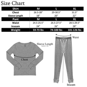 Popular Boy's Thermal Long Underwear Set Base Layer Long Johns