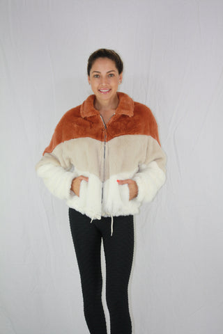 Faux Fur Color Block