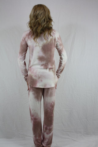 Blush Crew Neck Top and Pants Set